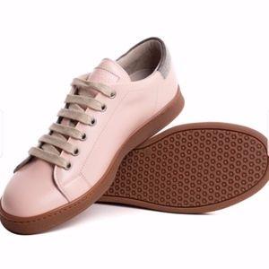 Brunello Cucinelli Womens Pink Monili Patent,sz 37
